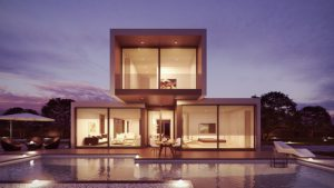 3D beautiful house