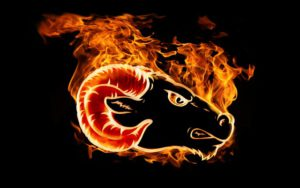 Aries on fire
