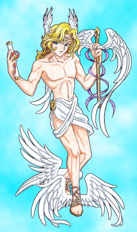Hermes symbols for Gemini in Olympia mythology