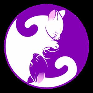 cats in yin yang position