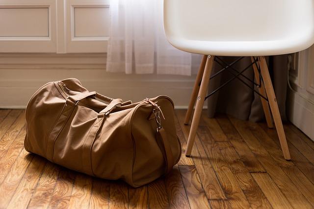 luggage preparing to hospital