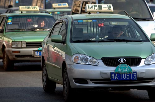 Regular taxi example in China