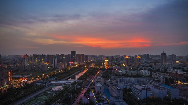 Zheng Zhou city night view