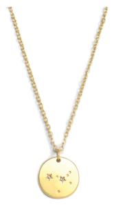 Lucky feather cancer zodiac necklace