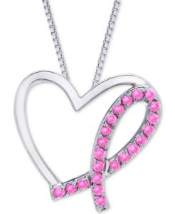 breast cancer awareness necklace from macy