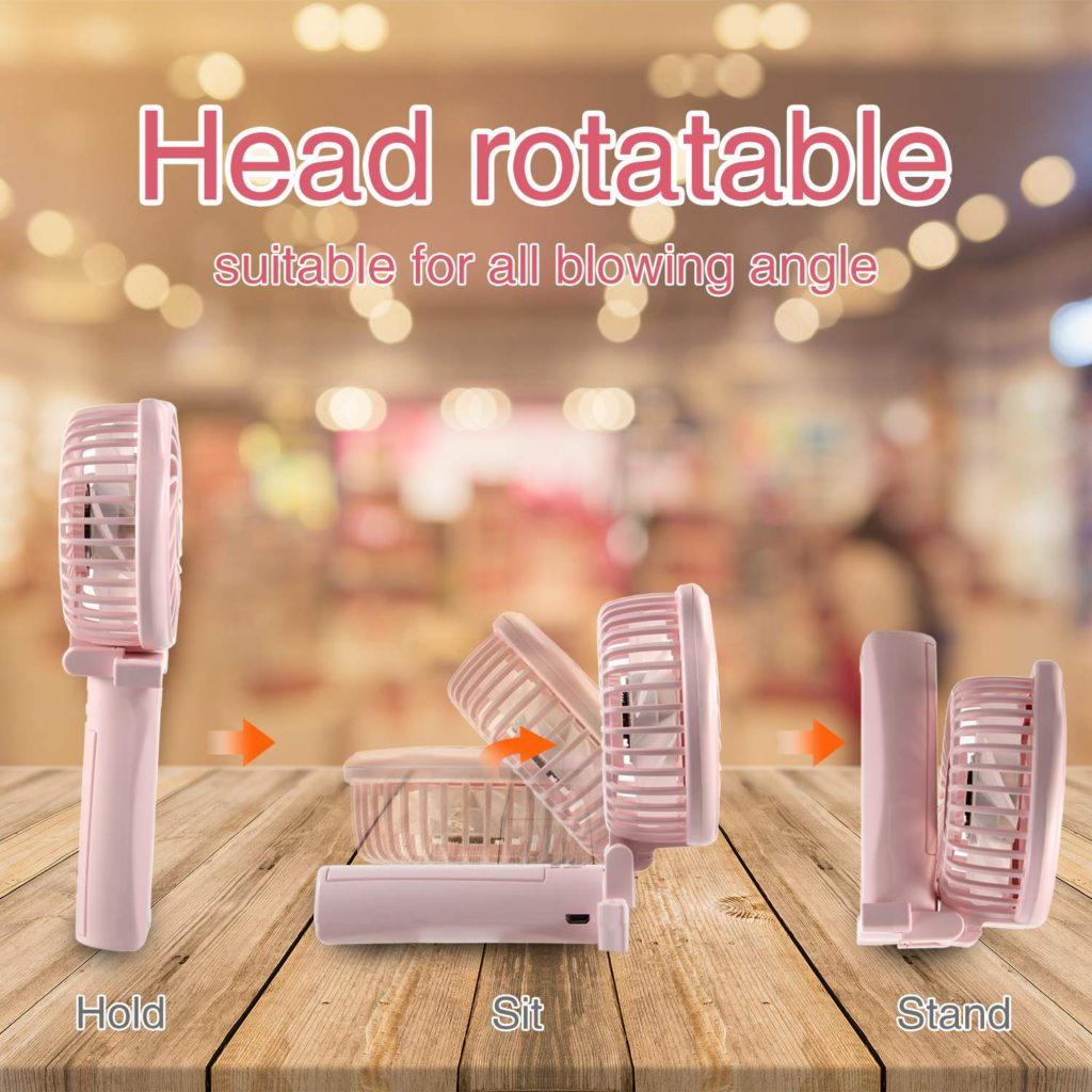 tripole hello kitty rechargeable fan head rotatable