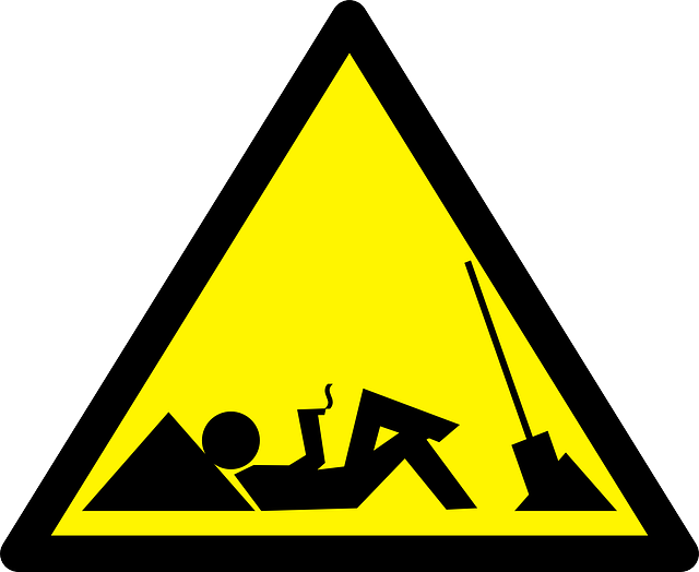 lazy caution sign